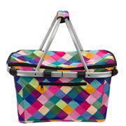 Sachi - Insulated Carry Basket Harlequin