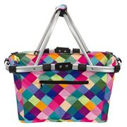 Sachi - Two Handle Carry Basket Harlequin