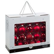 Peter's - Shatterproof Christmas Baubles Set Red 42pce