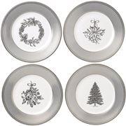 Wedgwood - Christmas Winter White  Plates Set  4pce