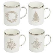 Wedgwood - Christmas Winter White Mug Set 4pce
