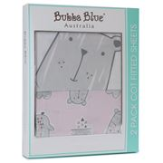 Bubba Blue - Beary Sweet Cot Fitted Sheets Set 2pce