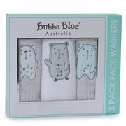 Bubba Blue - Beary Happy Face Washers Set 3pce