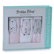 Bubba Blue - Beary Sweet Face Washers Set 3pce