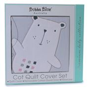 Bubba Blue - Beary Sweet Cot Quilt Cover Set