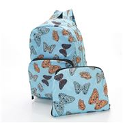 Eco-Chic - Foldable Backpack Butterflies Blue