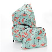 Eco-Chic - Foldable Backpack Flamingo Green