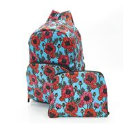 Eco-Chic - Foldable Backpack Poppies Blue
