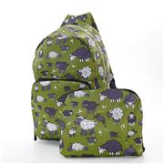 Eco-Chic - Foldable Backpack Sheep Green
