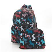 Eco-Chic - Foldable Backpack Scotty Dog Black