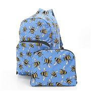 Eco-Chic - Foldable Backpack Bees Blue