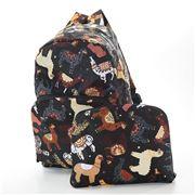 Eco-Chic - Foldable Backpack Llama Black