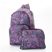 Eco-Chic - Foldable Backpack Dragonfly Purple