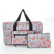Eco-Chic - Foldable Holdall Flamingo Grey
