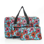 Eco-Chic - Foldable Holdall Poppies Blue
