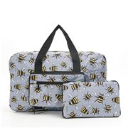 Eco-Chic - Foldable Holdall Bees Grey