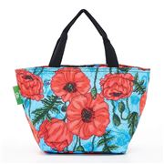 Eco-Chic - Lunch Bag Poppies Sky Blue
