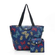 Eco-Chic - Foldable Cool Bag Butterflies Navy Large