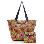 Eco-Chic - Foldable Cool Bag Green Poppies Large