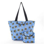 Eco-Chic - Large Cool Bag Foldable Bees Blue