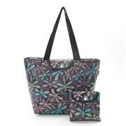 Eco-Chic - Foldable Cool Bag Dragonfly Black Large