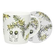 Ecology - May Gibbs Wattle Mug & Coaster Set 2pce