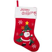 Peter's - Christmas Stocking Full Santa & Tree 25x40cm