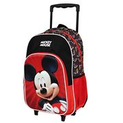 Disney - Mickey Mouse Trolley Backpack Red/Black