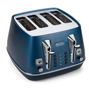 DeLonghi - Distinta Flair Blue Four Slice Toaster