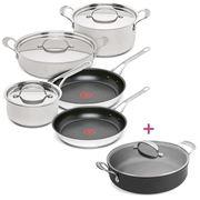 Tefal - Jamie Oliver Premium S/S Set 5pce +Pot Roast