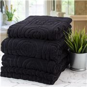 Florence Broadhurst - Circles & Squares Towel Set Black 5pce