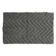 Rans - Chevron Bathmat 50x80cm Charcoal