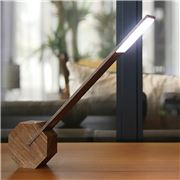 Gingko - Octagon One Desk Lamp Walnut