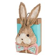 Boz Easter - Straw Bunny Box With Eggs Turquoise/Pink