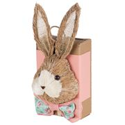 Boz Easter - Straw Bunny Box With Eggs Peach/Pink