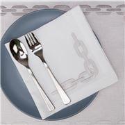 Serenk - Silver Chain Linen Napkin White 40x40cm