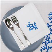 Serenk - Blue Coral Linen Napkin White 40x40cm