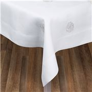 Serenk - Silver Sea Urchin Linen Tablecloth White 160x350cm