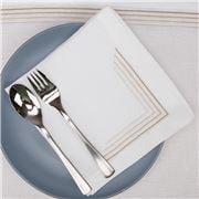 Serenk - Gold Four Picots Linen Napkin White 40x40cm
