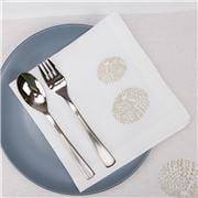 Serenk - Gold Sea Urchin Linen Napkin White 40x40cm