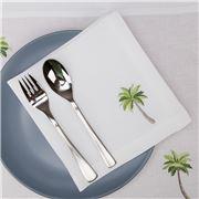 Serenk - Palm Tree Linen Napkin White 40x40cm
