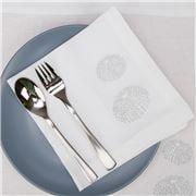Serenk - Silver Sea Urchin Linen Napkin White 40x40cm