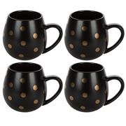 Robert Gordon - Hug Me Matte Black & Gold Spot Mug Set 4pce