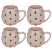 Robert Gordon - Hug Me Matte Pink & Gold Spot Mug Set 4pce