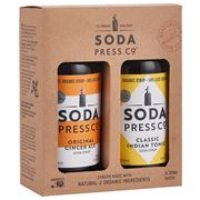 Soda Press Co - Ginger Ale & Indian Tonic Syrup Set 2pce
