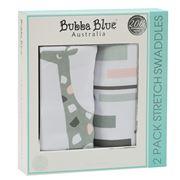 Bubba Blue - Girl Zoofari 2pk Stretch Swaddle
