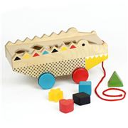 Petitcollage - Alligator Wood Shape Sorter