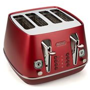 DeLonghi - Distinta Flair Four Slice Toaster CTI4003 Red