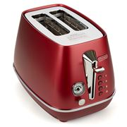 DeLonghi - Distinta Flair Two Slice Toaster CTI2003 Red