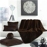 Evelyne Prelonge - Faux Fur Throw Rug Chocolate